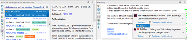 Ide integration notifications