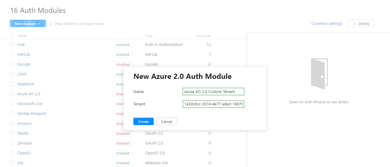 Azure AD 2 0 Auth Module - Help | YouTrack InCloud