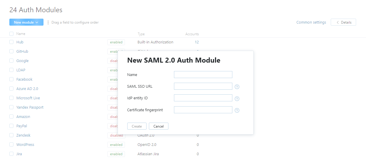 SAML 2 0 Auth Module - Help | YouTrack Standalone