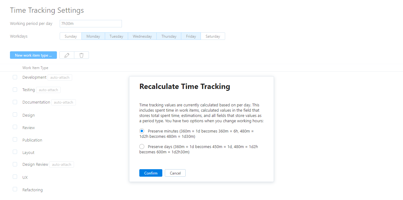 Time Tracking - Help | YouTrack Standalone