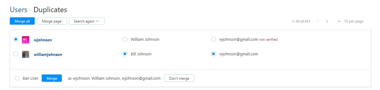 Merge User Accounts - Help | YouTrack Standalone