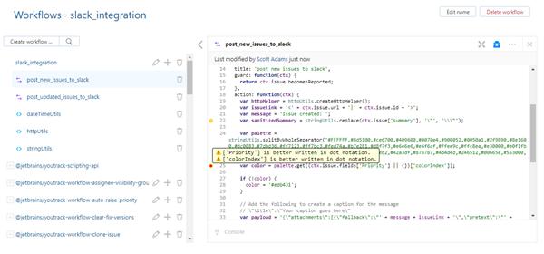 Workflow converter code inspection