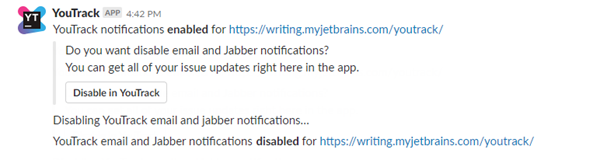 Youtrack app enable notifications