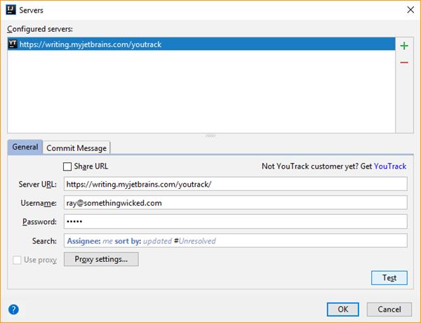 IDE integration configure server