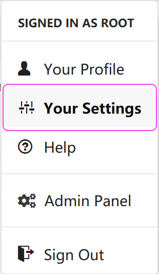 Select Your Settings