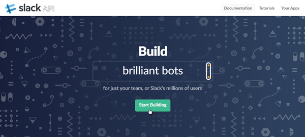 Slack integration start building