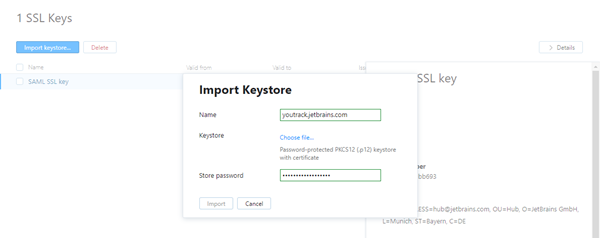 import SSL keystore