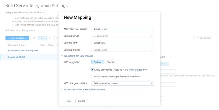 Jenkins mapping options
