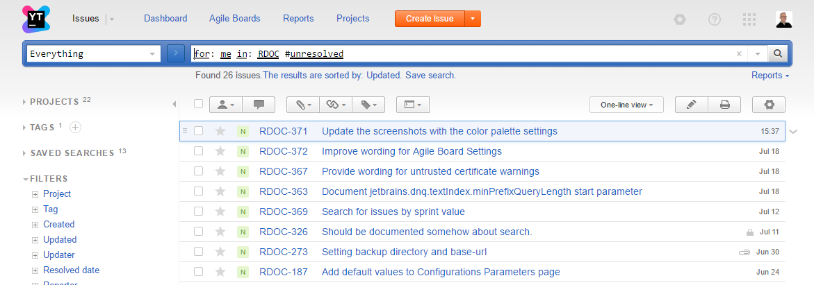 Opensearch search results