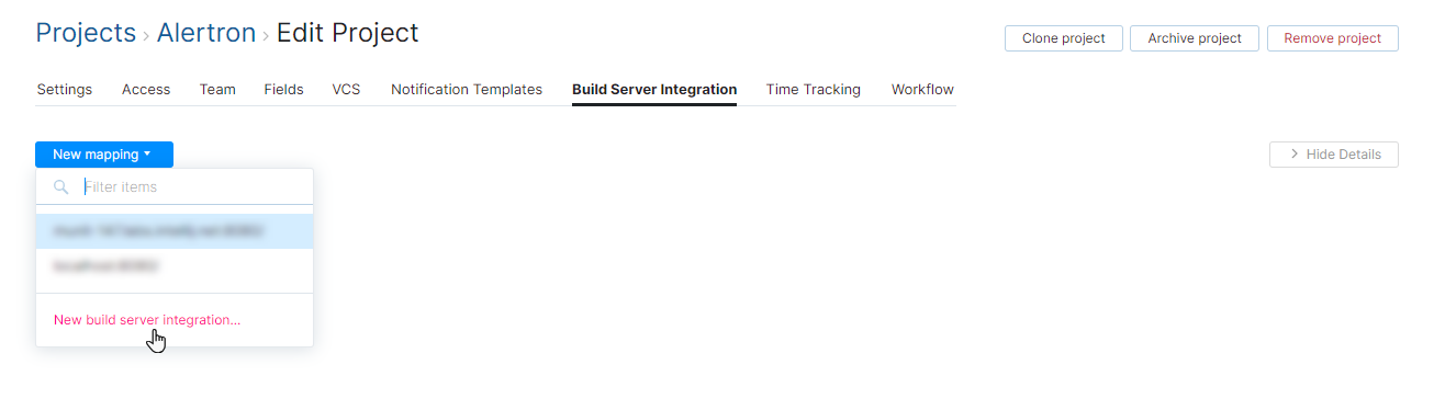 add build server in project