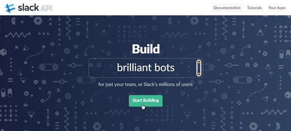 Slack integration start building
