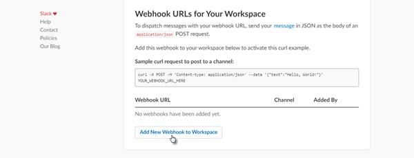 Add new webhook