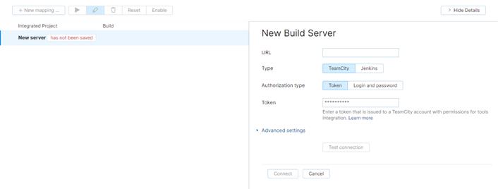 add TeamCity server
