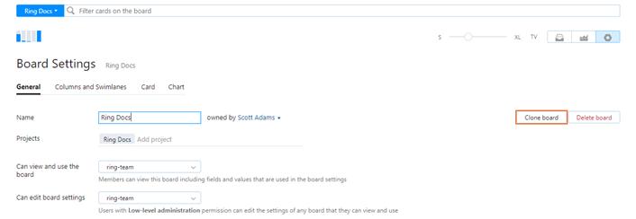 clone agile board