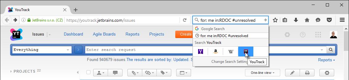 Opensearch firefox search field