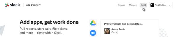 Slack integration build