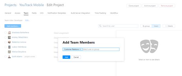 Add team groups