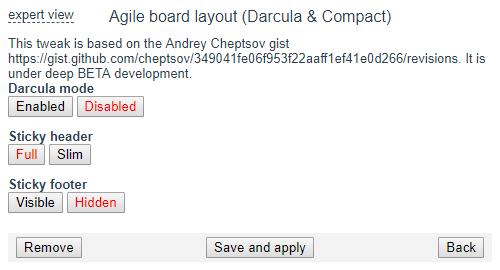 Agile board layout tweak.