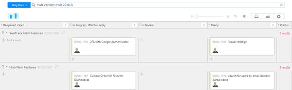 Agile board search filter