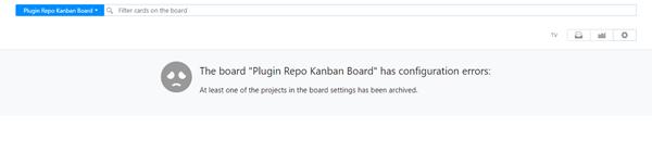 Agile board with configuration error.