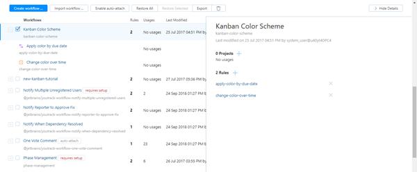 Kanban color scheme