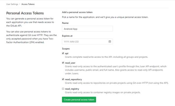 generate token in GitLab
