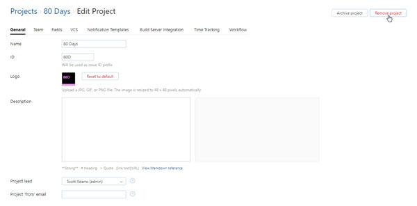 Remove project jpg