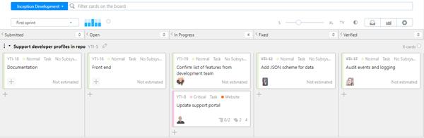 Workflow agile statemachine