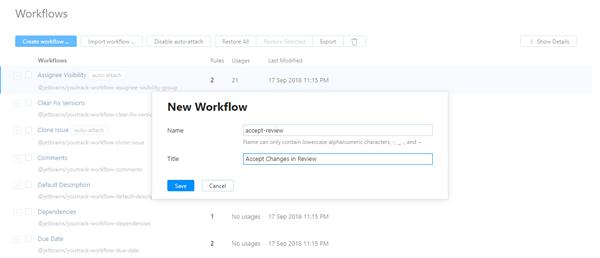Create workflow new workflow