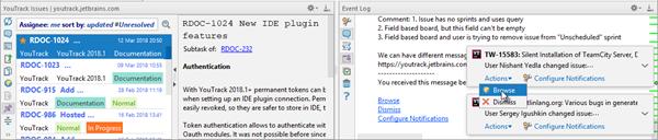 Ide integration notifications