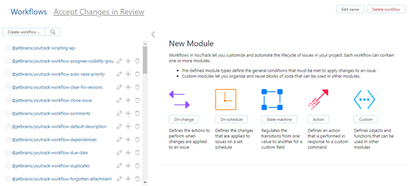 Create workflow new module