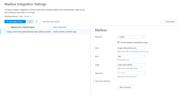 add mailbox for feedback email