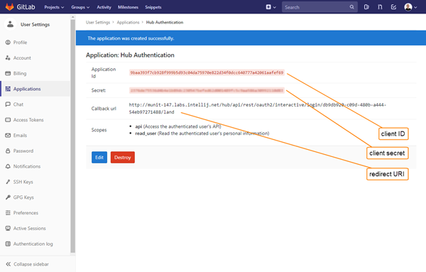 Gitlab auth registration