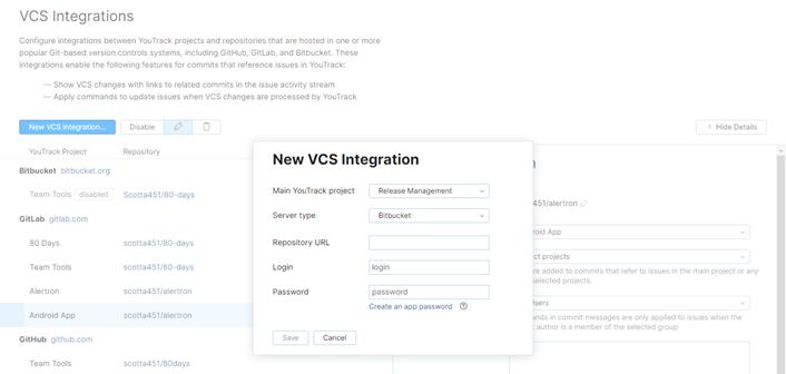 new Bitbucket VCS integration