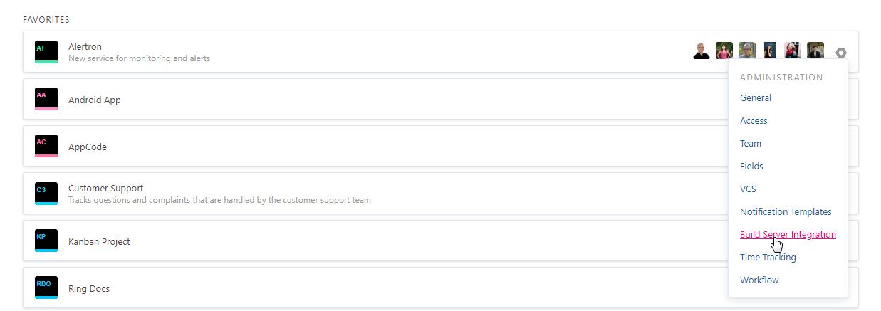 project administration build server integration