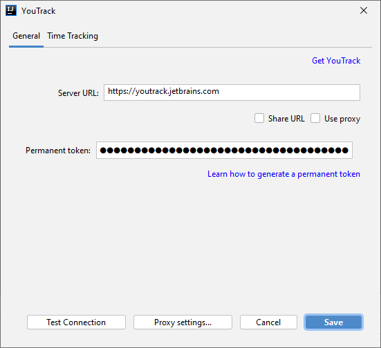 Youtrack integration add server