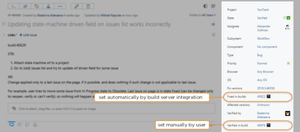 set values for build fields