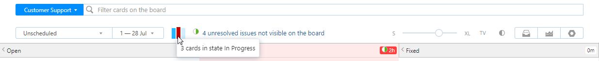 Agile progress indicator
