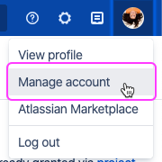 Open the user menu and select Settings