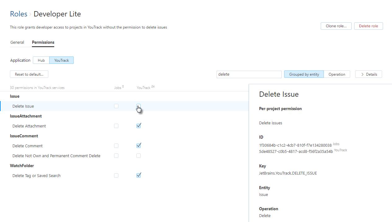 Clone issue update permissions
