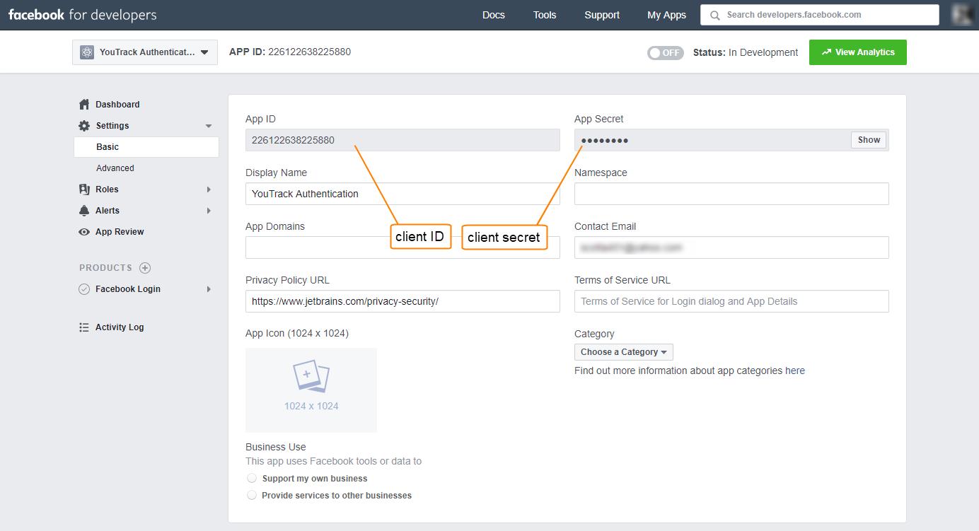 Facebook auth registration