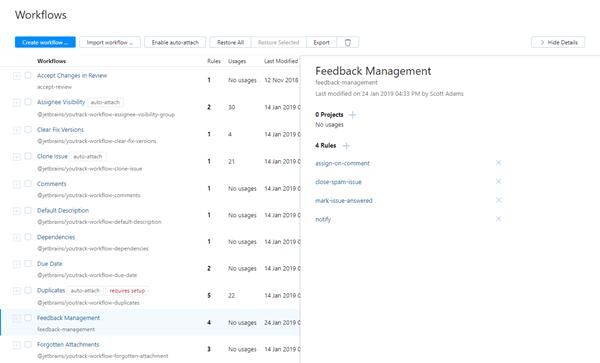 feedback management custom workflow