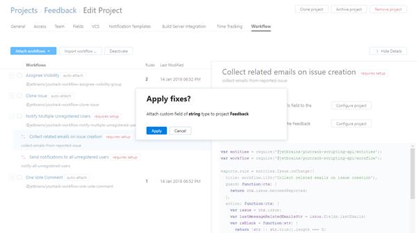 feedback workflow apply fixes