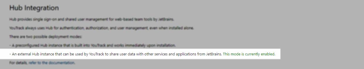Hub integration standalone