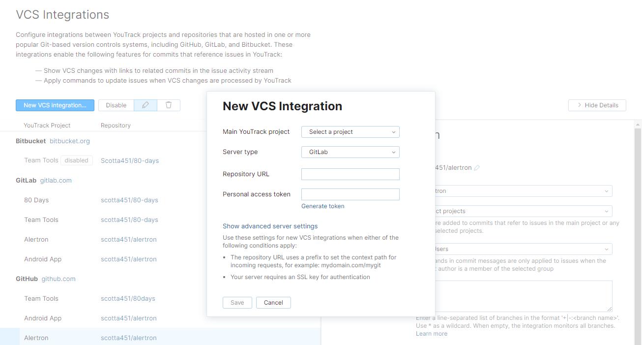 new GitLab VCS integration