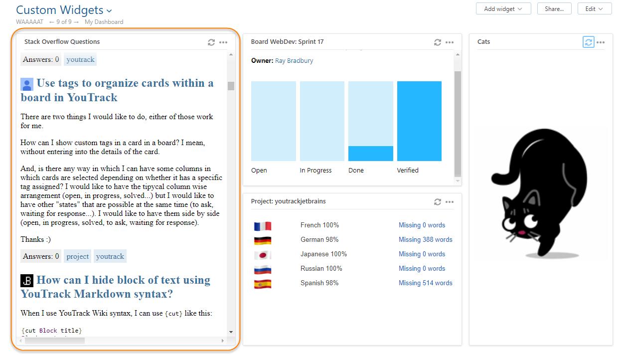 Stack overflow questions widget