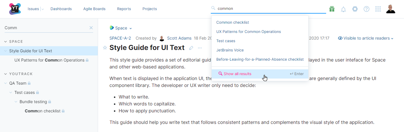 Search for articles by text.