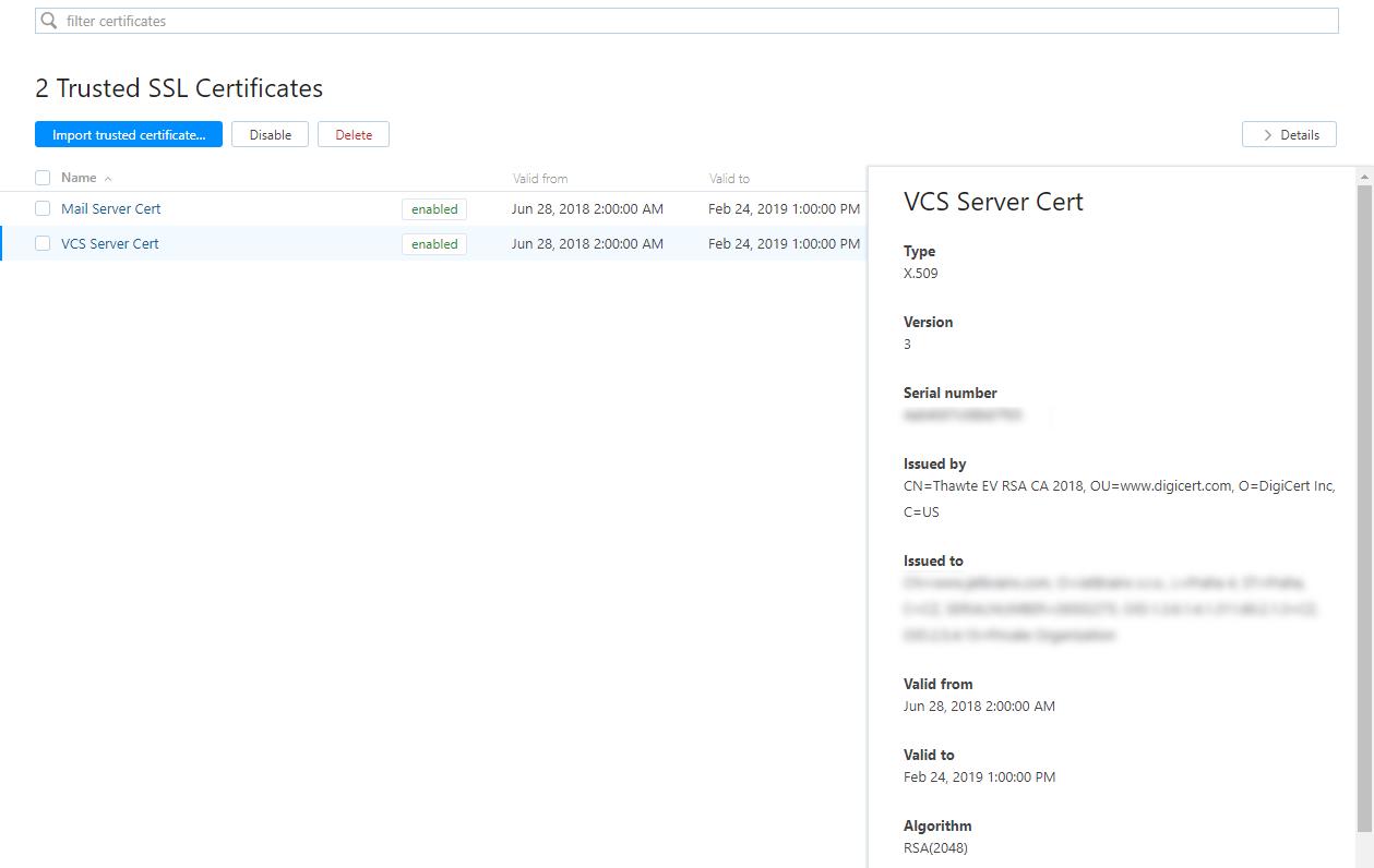 trusted SSL certificates