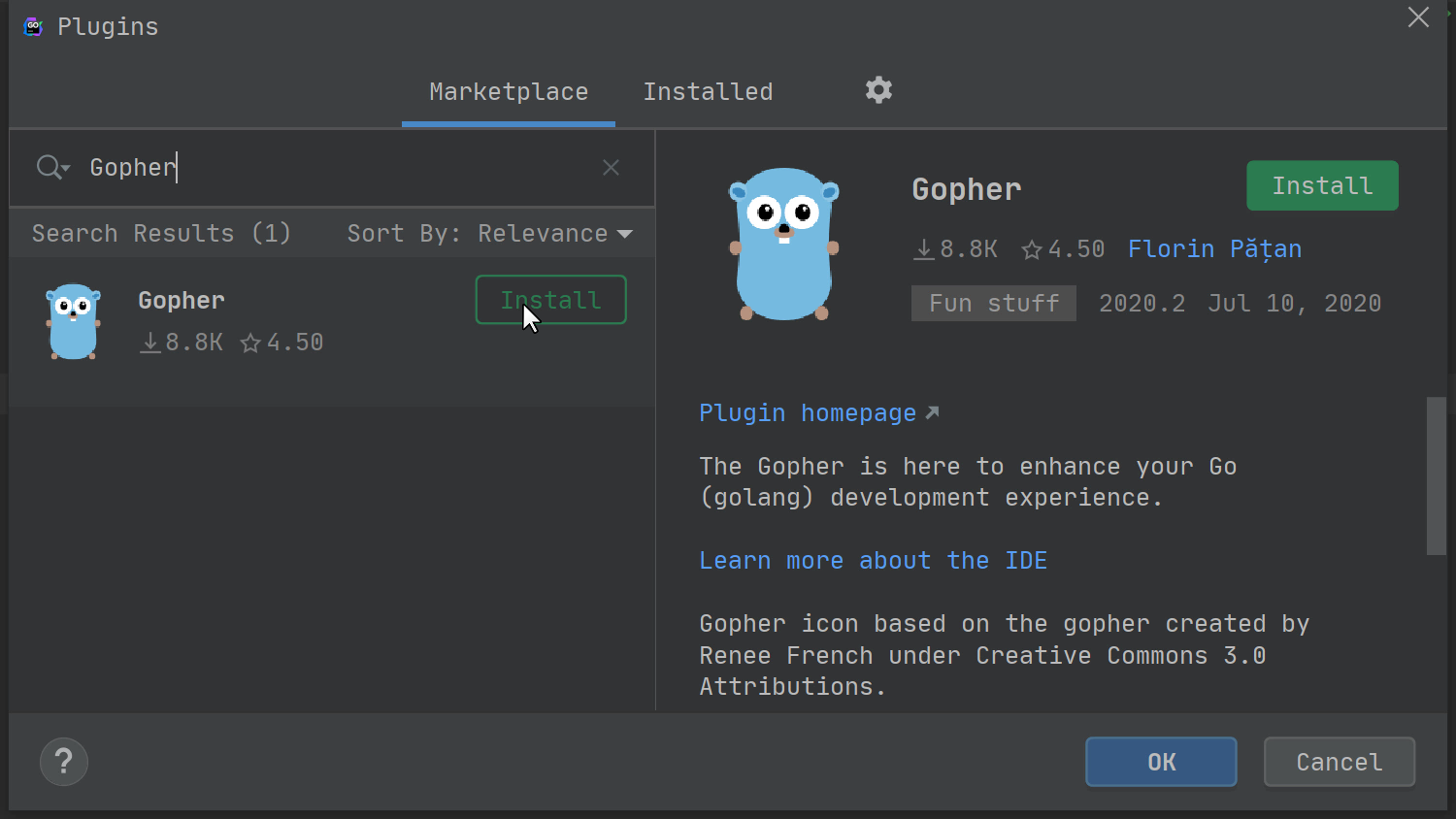Gopher plugin
