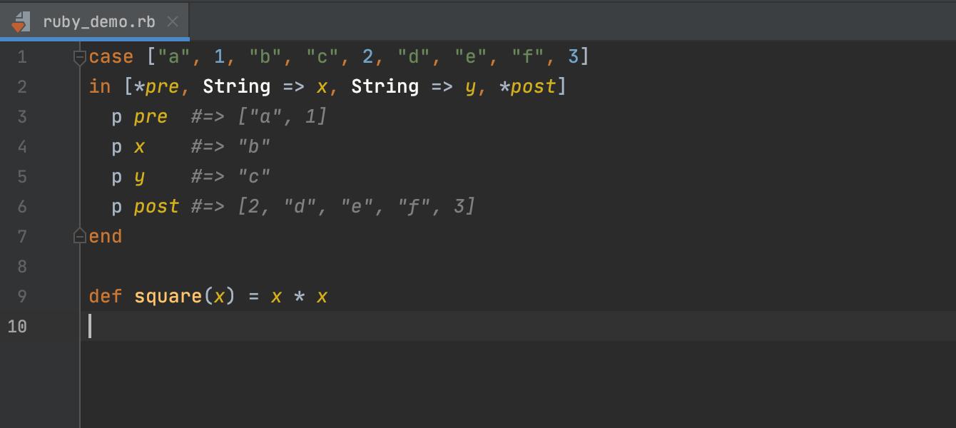 Ruby 3.0 syntax